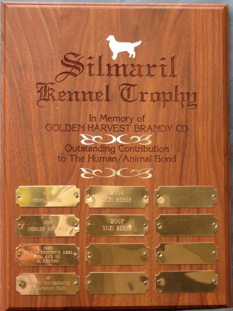 Silmaril Kennel Trophy – Golden Retriever Club of Canada